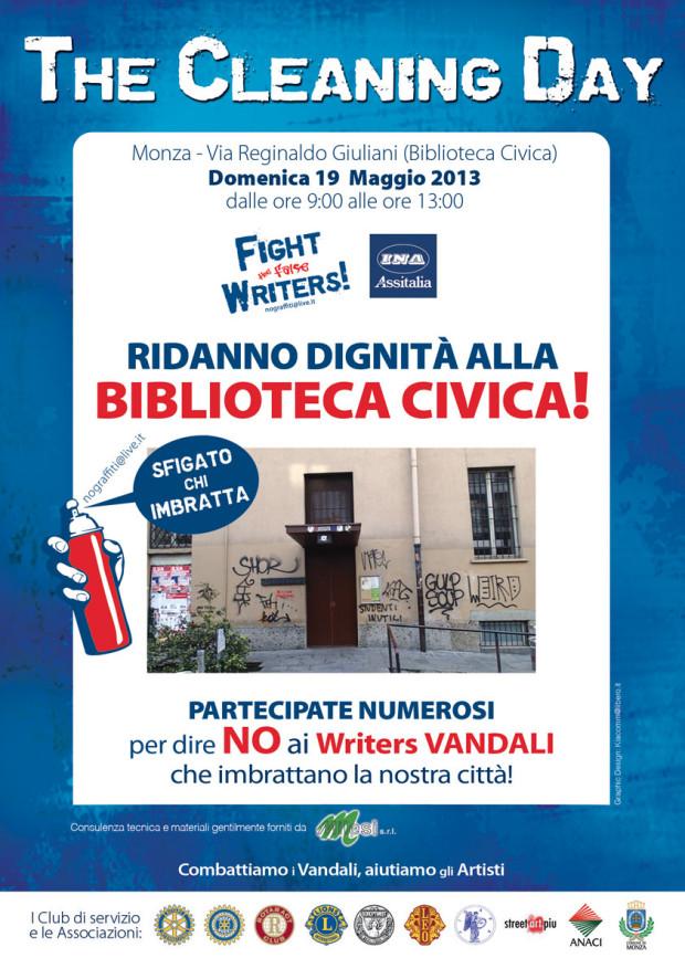 Cleaning Day Maggio 2013 - - Biblioteca civica