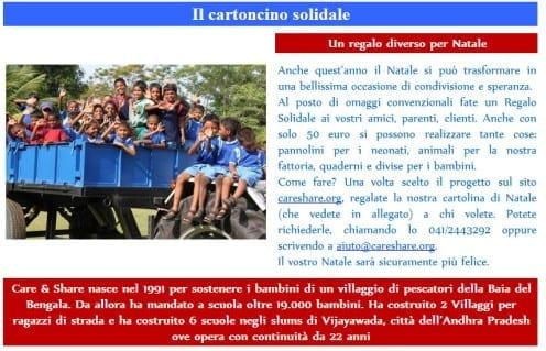Care & Share Cartoncino Solidale