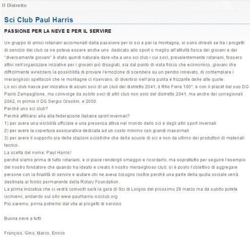 Paul Harris Sci Club