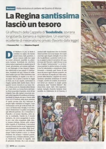 """La Regina santissima lasciò un tesoro (tratto da """"7"""" Settimanale del Corriere della Sera"""")"""