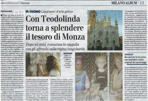 Regina Teodolinda - Art. Giornale 06.02.2015_001