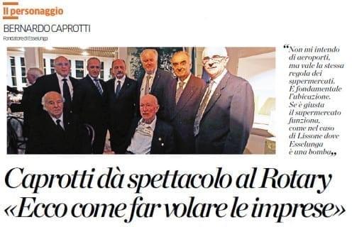 Caprotti dà spettacolo al Rotary